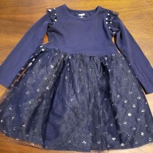 Gymboree dress - blue with stars, 4T